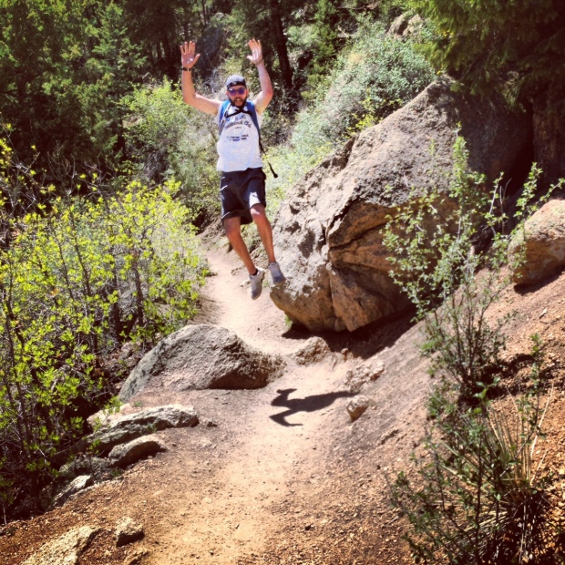 A word to the wise - pretending to be a parkour master moments after finishing the Manitou Incline may lead to serious bloody injuries... just saying.