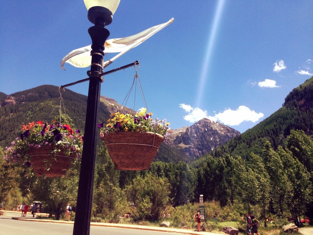 Downtown Telluride, just outside the festival gates.